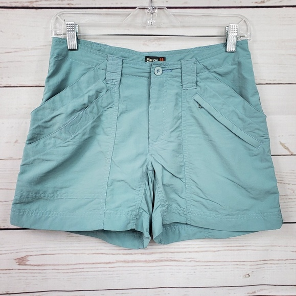Royal Robbins Pants - Royal Robbins muted blue cargo-like shorts